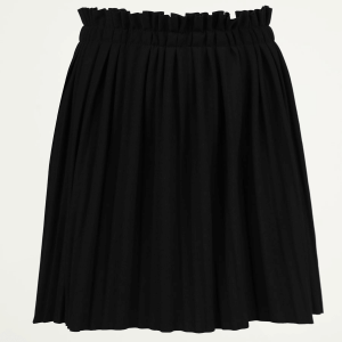 Zwarte geplooide rok