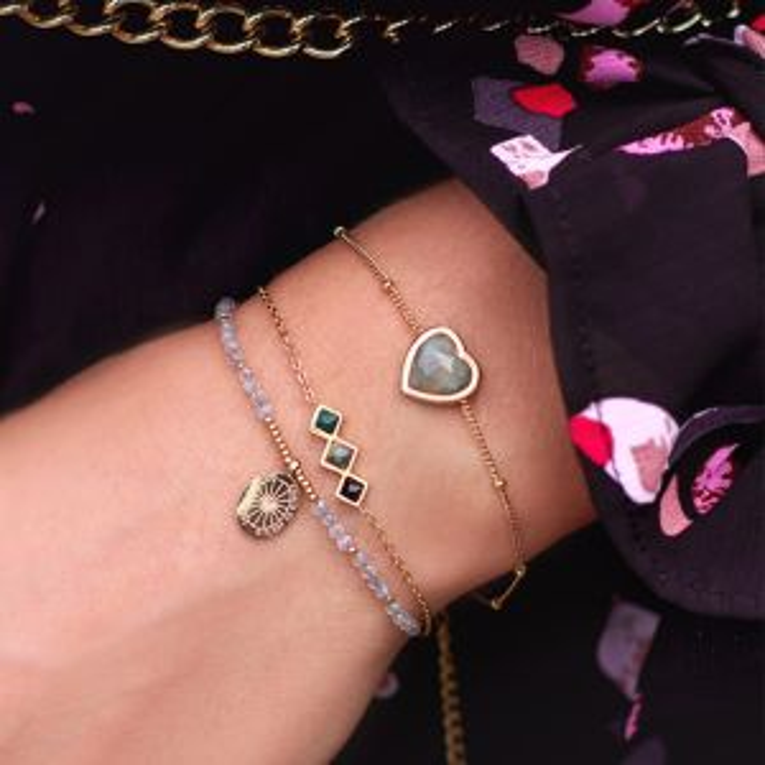 Armband donkere edelsteentjes