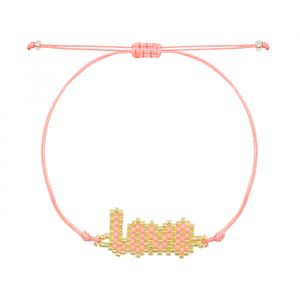 Roze kralen armband love My Jewellery