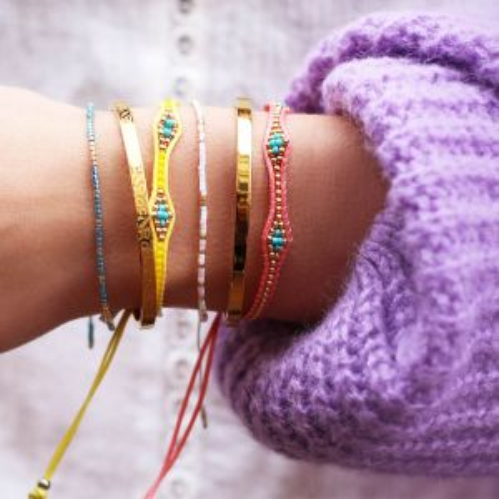 Mintgroene kralen armband