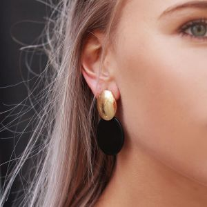 Black Classy 70's Earrings