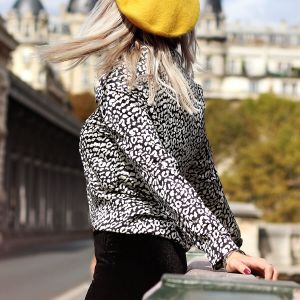 Black & White Leopard Blouse