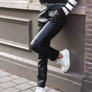 Zwarte pantalon leatherlook