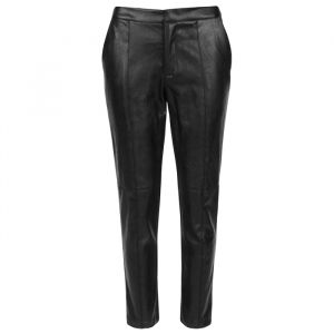 Zwarte Pantalon Faux Leather-S
