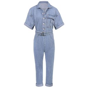 Denim jumpsuit korte mouw, denim jumpsuit My Jewellery