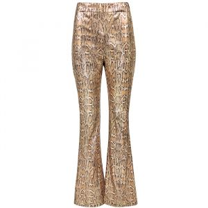 Flared pantalon slangenprint pailletten My Jewellery