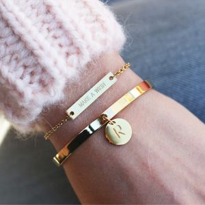 Initial Bracelet - Gold