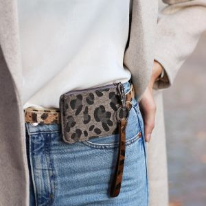 Grey Small Leopard Wallet