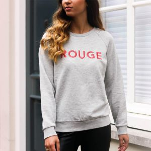 Grey Sweater Rouge