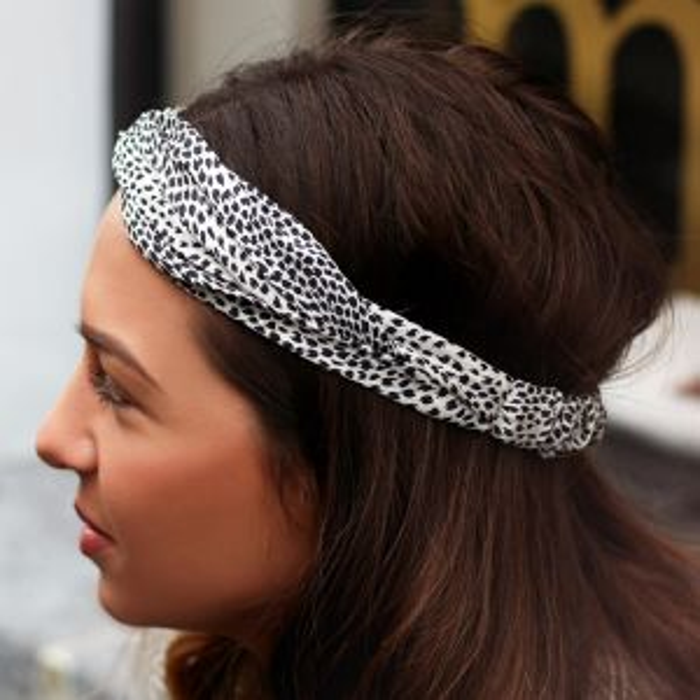 Zwart & wit geprinte haarband