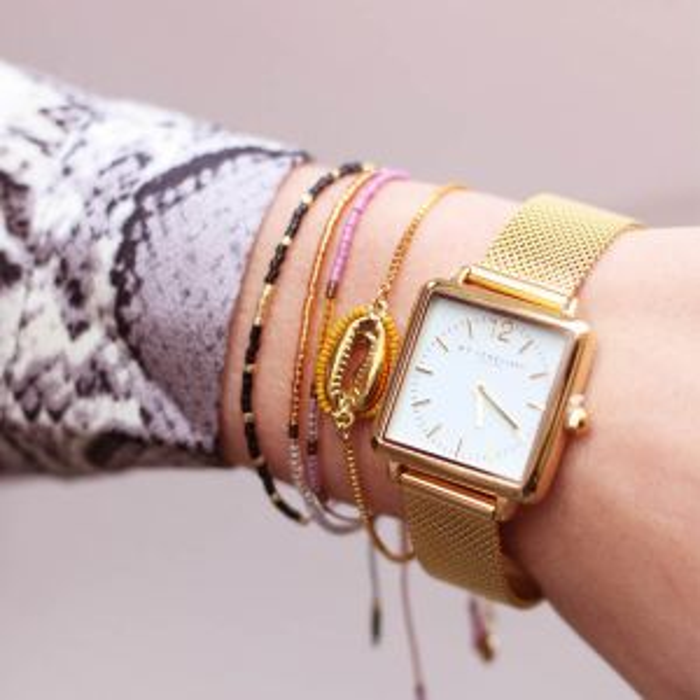 Gouden kralen armband