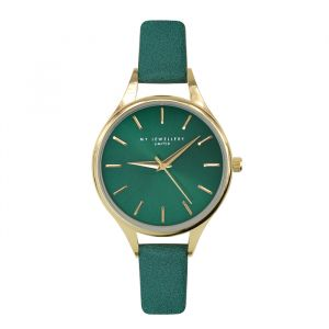 Classic Watch Green-Goud