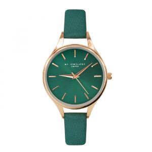 Classic Watch Green-Rose goud