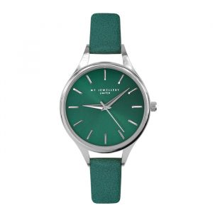 Classic Watch Green-Zilver