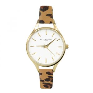 Leopard Watch Camel-Goud