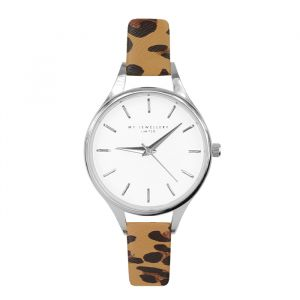 Leopard Watch Camel-Zilver
