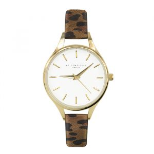 Leopard Watch Brown-Goud