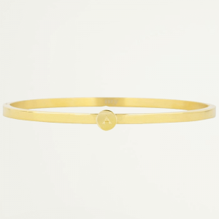 initial armbanden,  gouden initial bangles