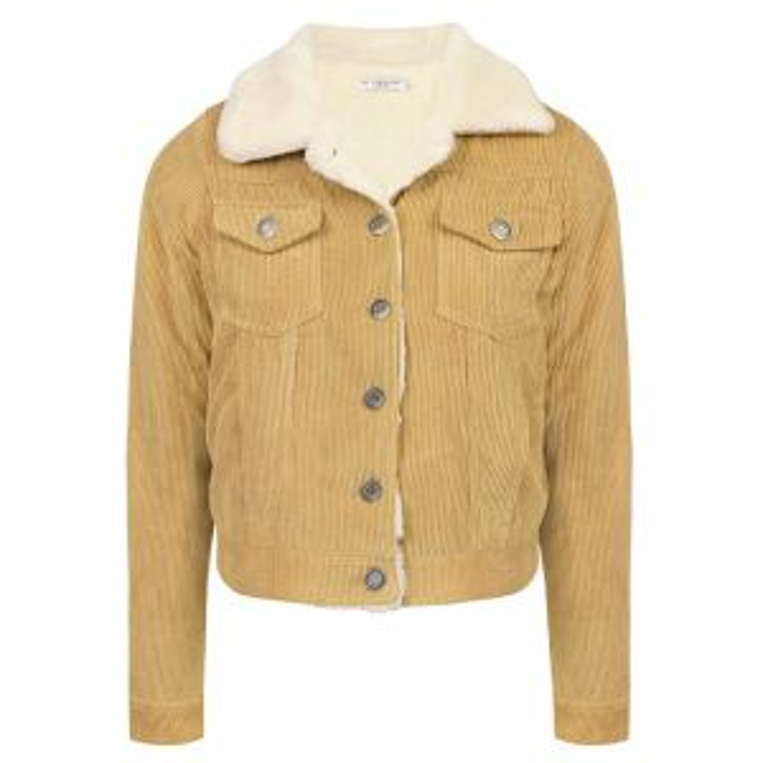 Corduroy jas bont beige My Jewellery