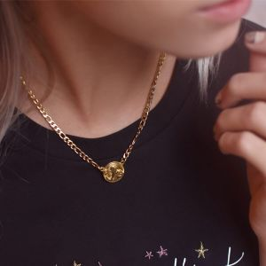 Flat Chain Coin Necklace
