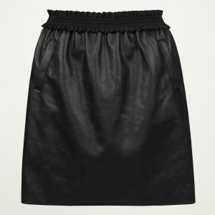 Zwarte a-lijn rok leatherlook, leren rok My Jewellery