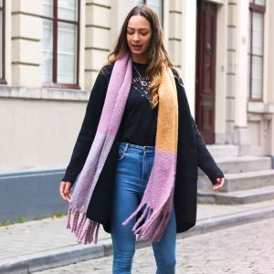 Purple Colorblock Scarf