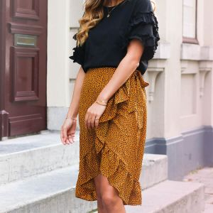 Dotted Midi Skirt