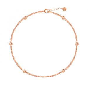Dots & Chain Anklet-Rose goud