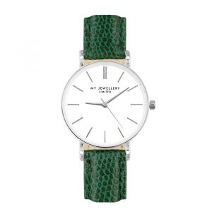 Small Vintage Watch - Green - Gold/Silver/Rose-Zilver