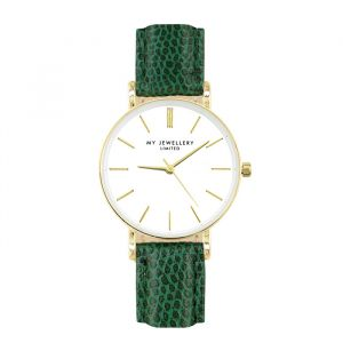 Small Vintage Watch - Green - Gold/Silver/Rose-Goud kleurig