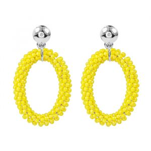Classy Bead Earrings - Yellow