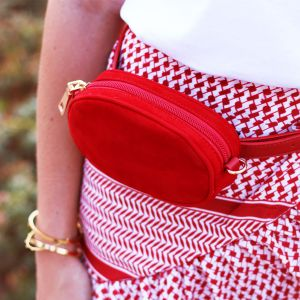 Round Bum Bag - Red