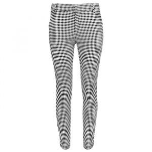 Zwart-wit geruite pantalon