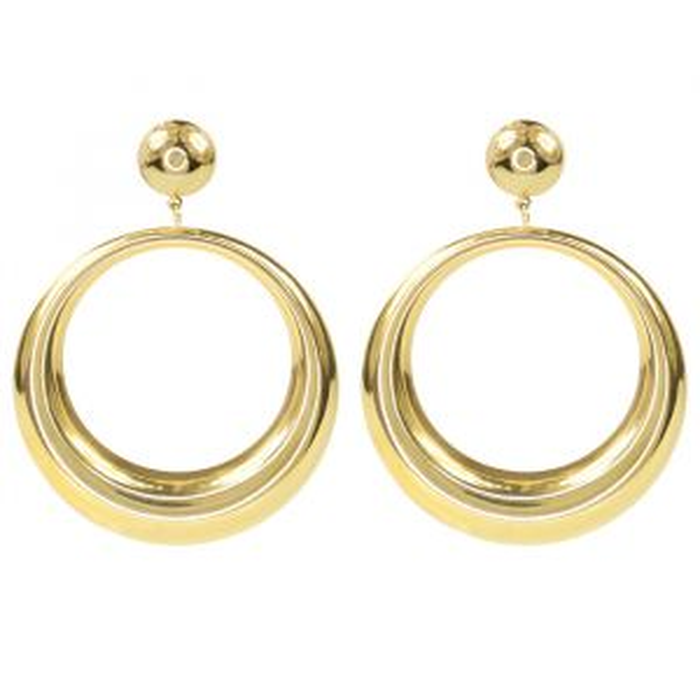 Oorhangers open ring groot - Goud