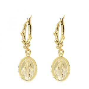 Holy Mary Earring Dots – Gold/Silver -Goud