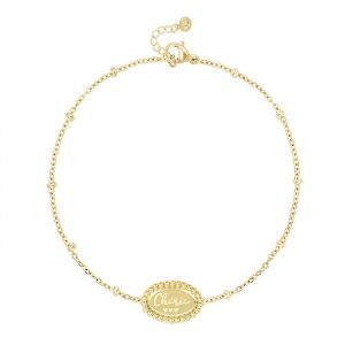 Custom Bracelet Cherie-Goud kleurig