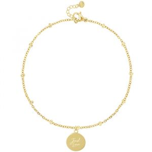 Bracelet Just Love-Goud