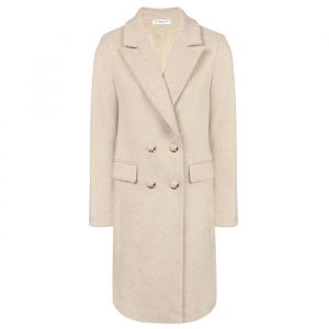 Grey Double Breasted Coat Slim Fit -S
