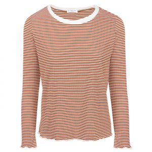 Long Sleeve Stripe Top – Rust-S