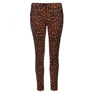 Suedine Leopard Pantalon - Rust Brown