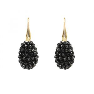Black Crystal Beads Teardrop