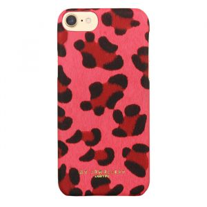 Telefoonhoesje luipaardprint roze