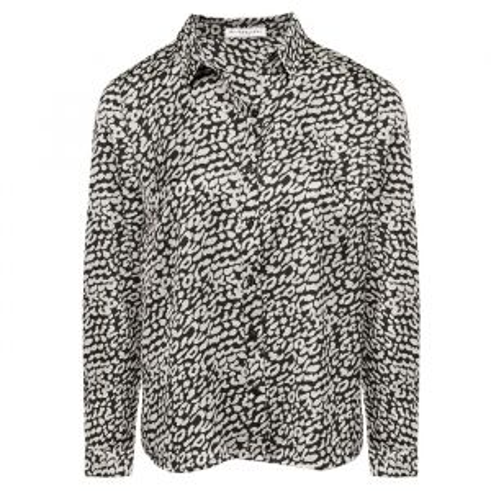 Black & White Leopard Blouse-XS