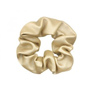 Gold Faux Leather Scrunchie
