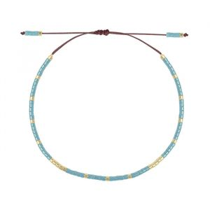 Blauwe kralen armband, Fijne armband My Jewellery