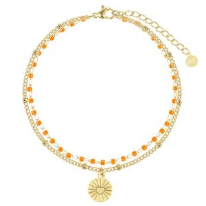 Oranje Armband Ketting & Kralen, Kralenarmband My Jewellery