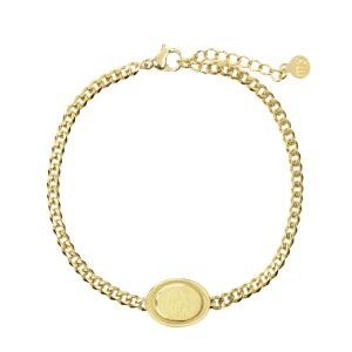 Armband bedel ovaal roos goud My Jewellery