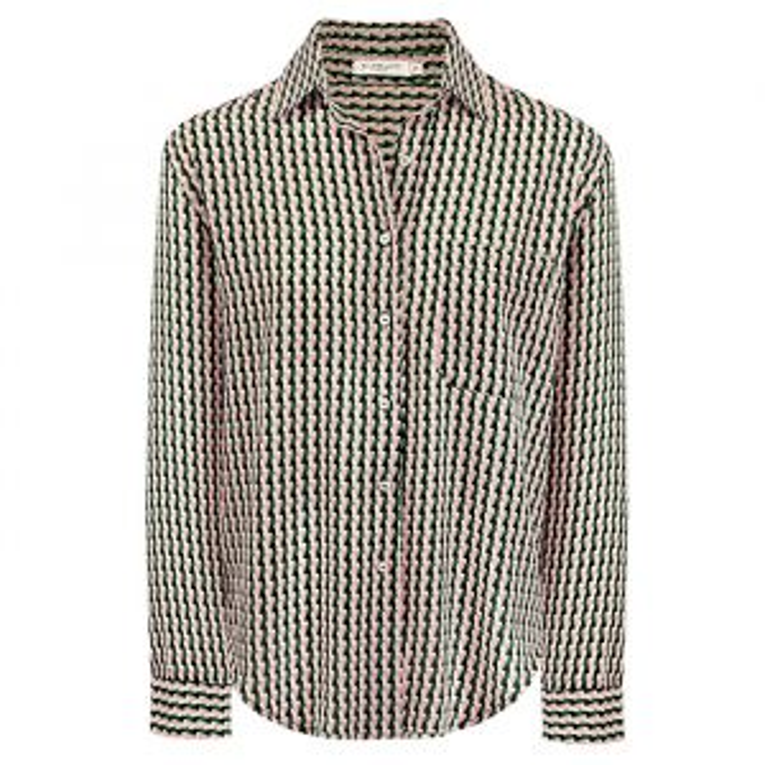 Blouse met geometrische print, print blouse My Jewellery