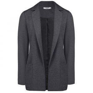 Antraciet blazer casual, colbert My Jewellery