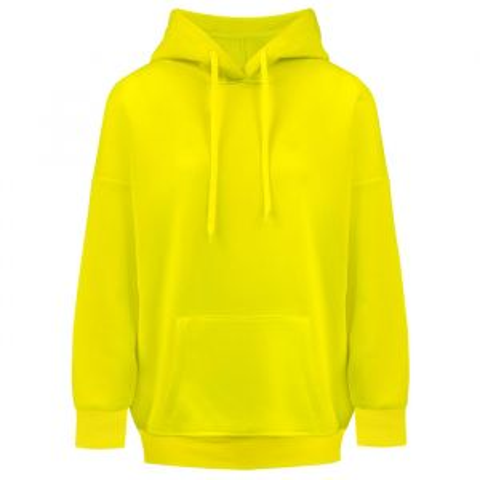 Neon gele hoodie-S